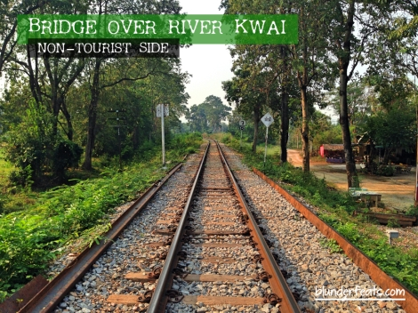 Bridge Over River Kwai, Kanchanaburi, Thailand - Non-Tourist Side