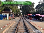 Bridge Over River Kwai, Kanchanaburi, Thailand - Vendors at Tourist Side